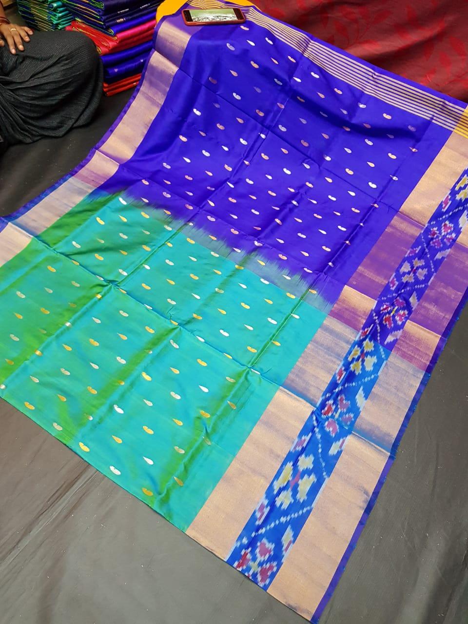 Pure Silk Uppada Pochampally Saree