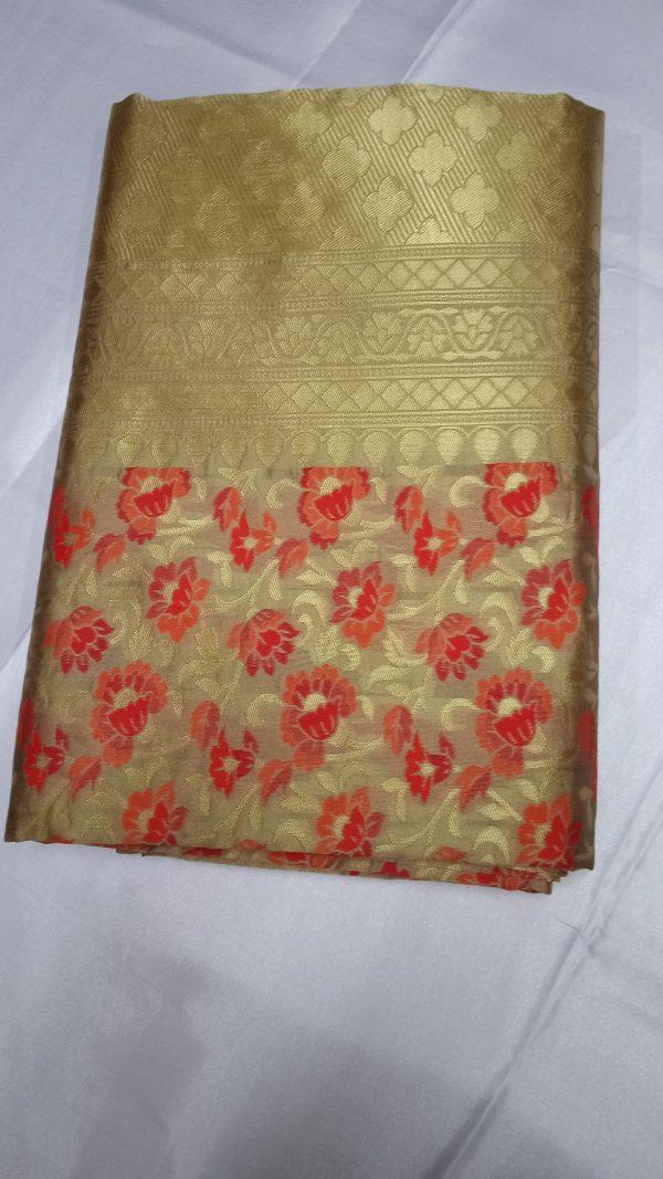 Banarasi Jaquard Full Jari Weaving Saree