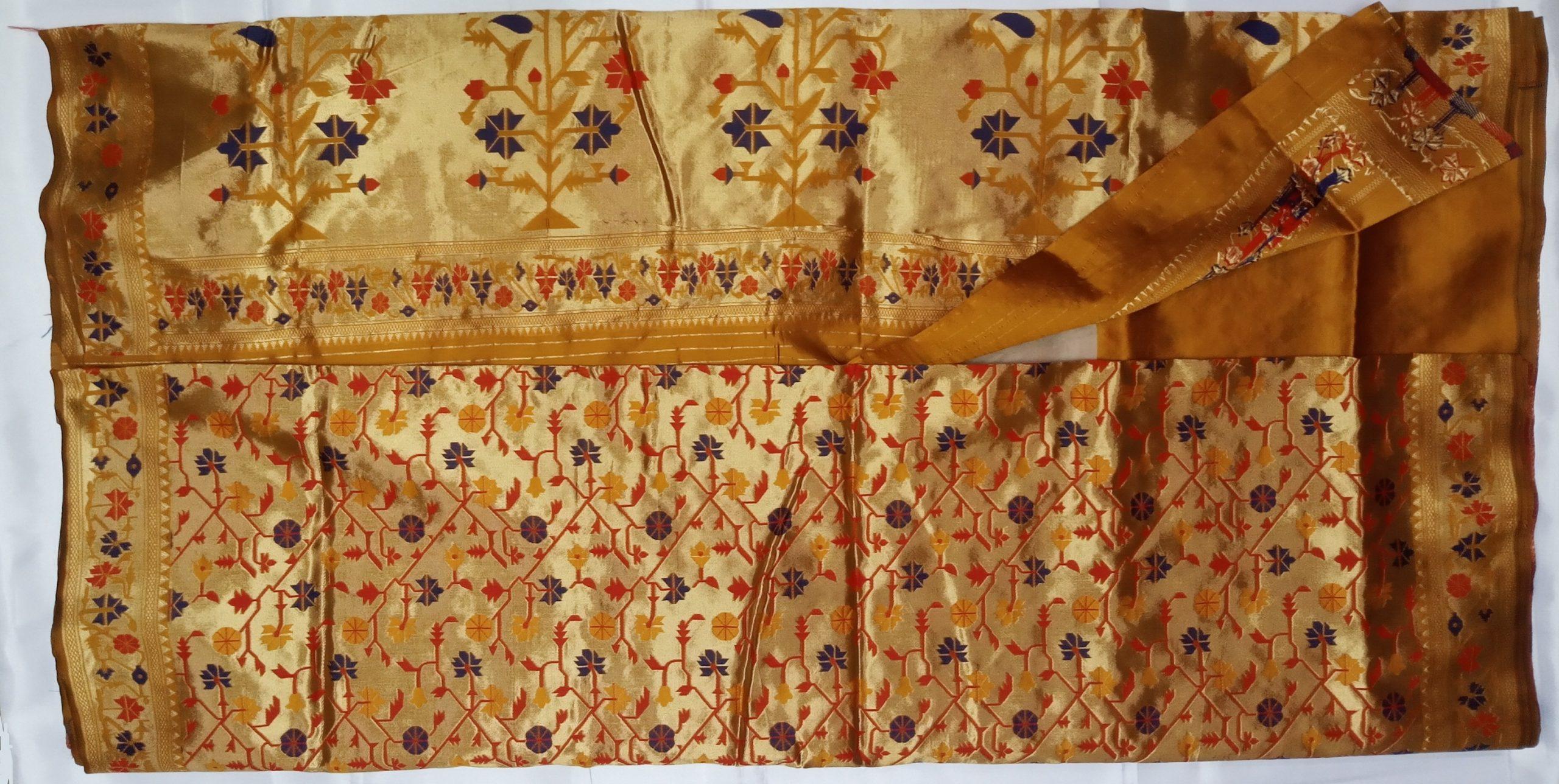 Banarasi Jaquard Full Jari Weaving Bridal wear Saree