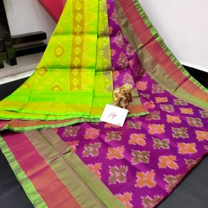 Pochampalli Semi Silk Saree -Purple