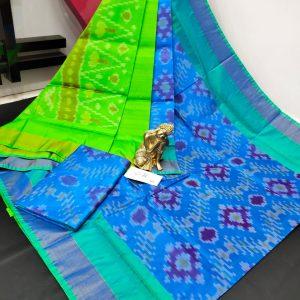 Pochampalli Semi Silk Saree -Blue